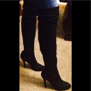 Over the knee Sexy Black Boots